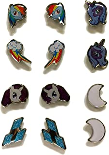 MY LITTLE PONY SURGICAL STAINLESS STEEL EARRINGS - 6 PACK