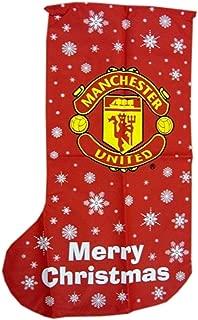 Manchester United Novelty Christmas Jumbo Present Stocking (One Size) (Red)