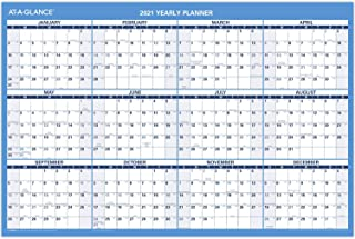 "$22 » 2021 Erasable Calendar, Dry Erase Wall Planner by AT-A-GLANCE, 36"" x 24"", Large, Horizontal, Reversible for Planning Space (PM2002821)"