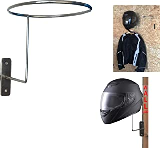 Motorcycle Accessories Helmet Holder Hanger Rack Jacket Hook Gifts–Wall Mounted Entryway Organizer for Coats, Hats, Caps, gloves & Helmet - Sturdy & Decorative Solution to Organize, Storage Or Display