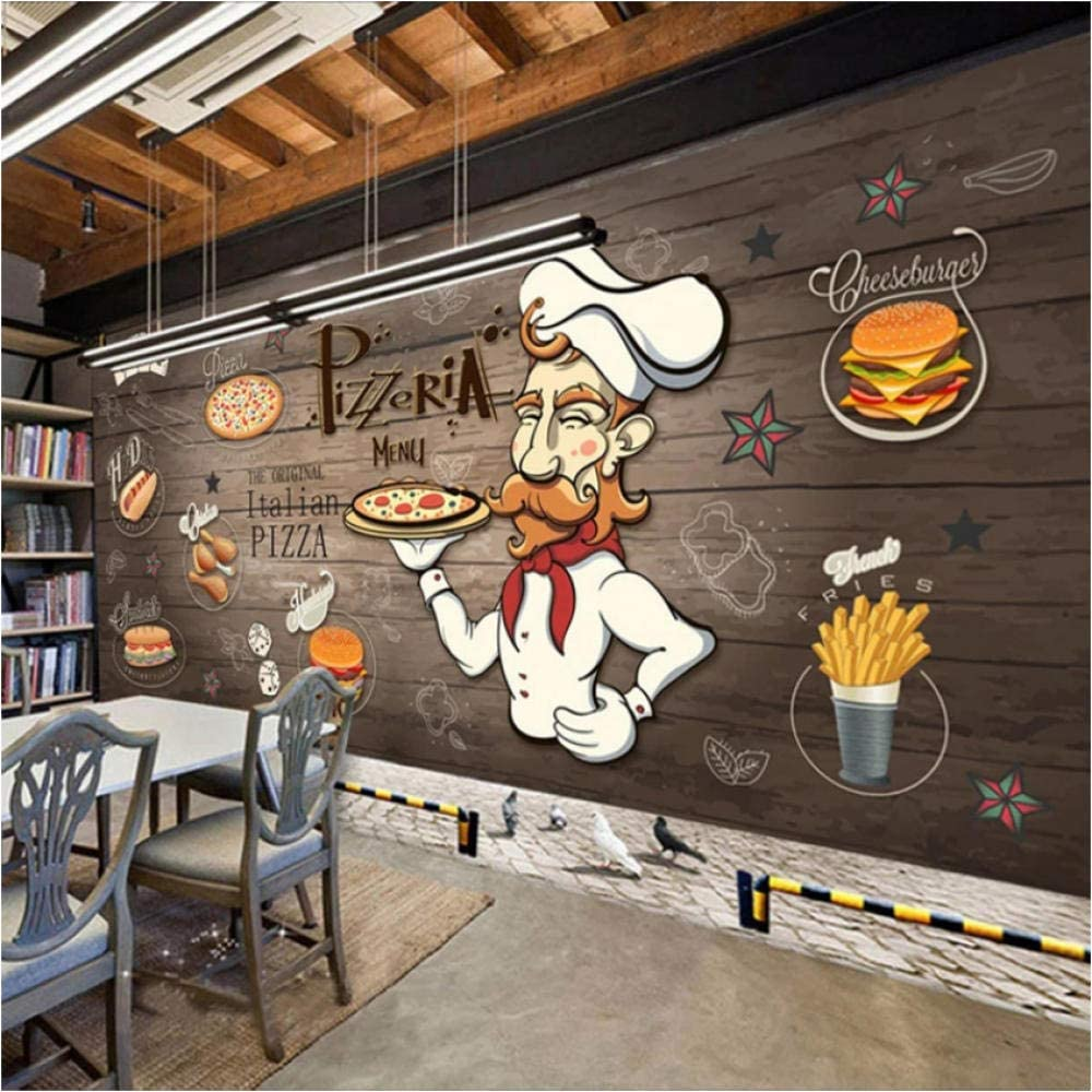Buy Custom 3d Photo Wallpaper Mural Hand Painted Wood Grain Food Pizza Restaurant Kitchen Personality Background Wall Decor Painting Online In Thailand B07xy4cmzx