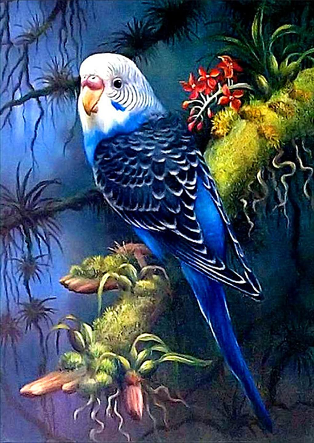 21secret 5D Diamond Diy Painting Full drill Handmade Forest Parrot Bird Cross Stitch Home Decor Embroidery Kit