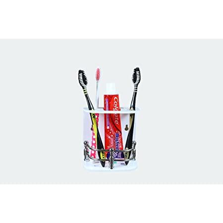 APzone Acrylic Tooth Brush Holder Stand Tumbler Holder for Bathroom Accessories for Home (Paste & Brush Holder) (Multicolor)