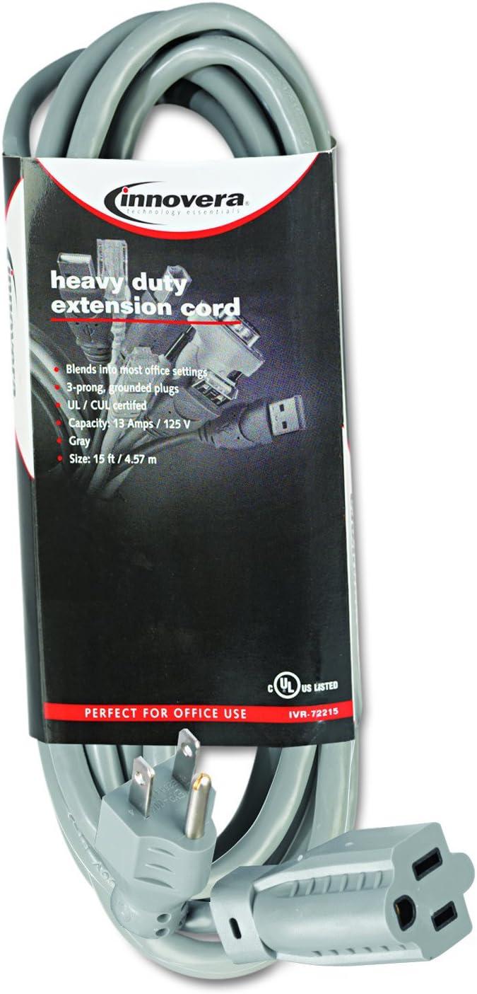 Credence Innovera 72215 Indoor Heavy-Duty Extension 1 year warranty 15-Feet Gray Cord