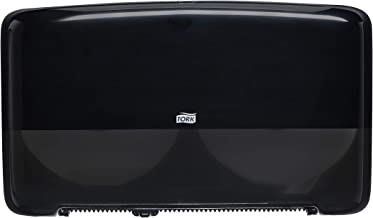Tork 5555290 Elevation Twin Mini Jumbo Bath Tissue Roll Dispenser, 10.125