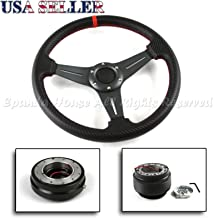 EpandaHouse Compatible with 00-05 Honda S2000 S2K Ap1 320Mm Gunmetal Cf Steering Wheel+Hub+Quick Release