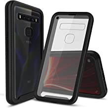CBUS Heavy-Duty Phone Case with Built-in Screen Protector Cover for Verizon TCL 10 5G UW –– Full Body (Black)