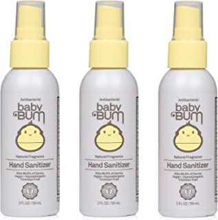 Baby Bum Hand Sanitizer - Antibacterial Spray - Natural Fragrance Non-Drying Coconut and Aloe Formula Perfect for Sensitiv...