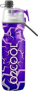 O2COOL Classic Aislado Elite Botella de Agua, Mist 'N Sip Crackle, 20 oz, Color Morado