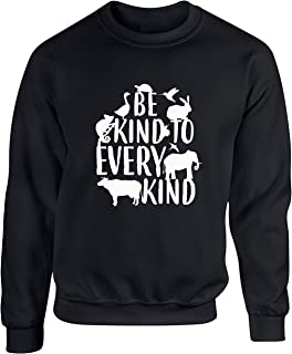 Hippowarehouse Be Kind to Every Kind Unisex Jumper Sweatshirt Pullover (Specific Size Guide in Description)