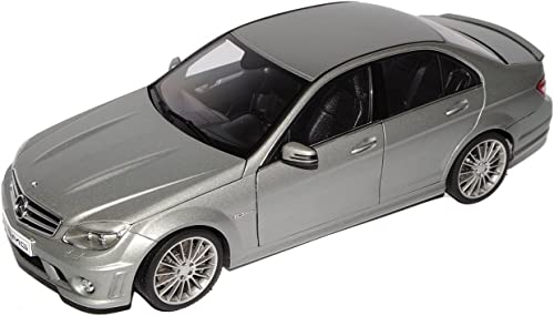 AUTOart Mercedes-Benz C-Klasse C63 AMG Limousine Grau W204 Ab 2007 76275 1 18 Modell Auto mit individiuellem Wunschkennzeichen