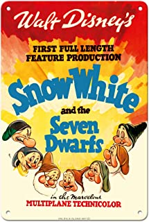 Pacifica Island Art Walt Disney's Snow White and The Seven Dwarfs - First Full Length Feature Production - Vintage Film Mo...