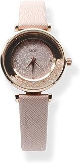 MQE Reloj de Pulsera de Cuarzo para Mujer con Cinturón Moderno y Piedras en Esfera Analógica