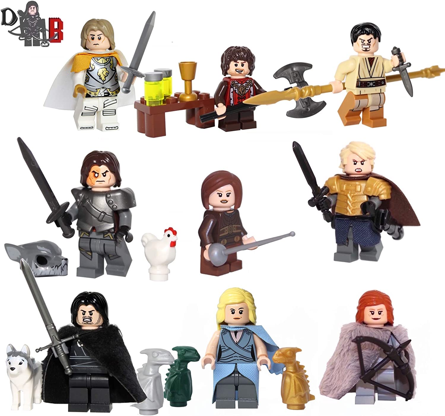 Custom Game of Thrones Mega 9 packung - Unter verwendung LEGO & custom teile B00NHY4872  Internationale Wahl    | Online Shop Europe