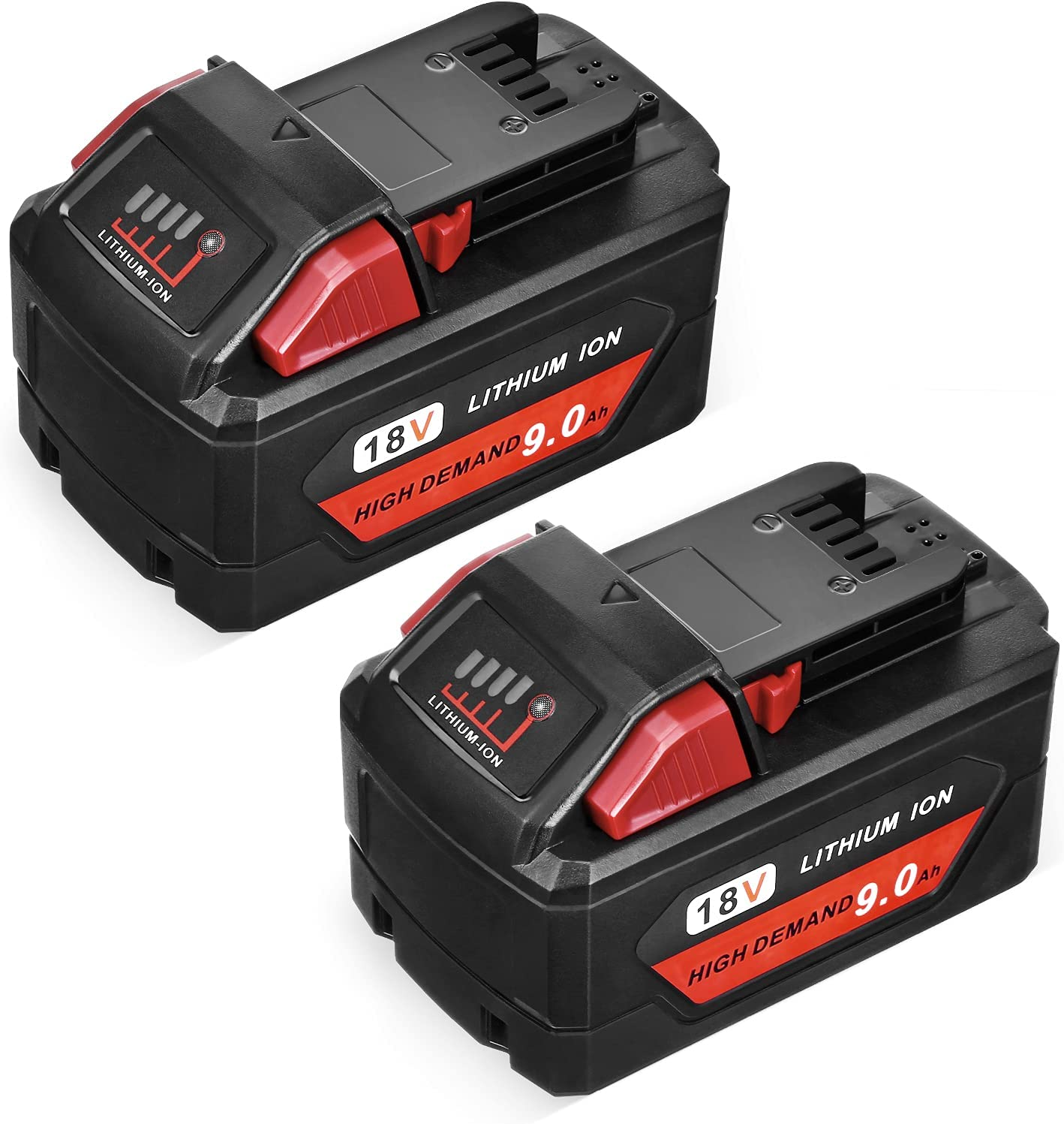 Abaige 9.0Ah 返品不可 High Output Lithium 正規販売店 for Milwau M18 Battery Replace