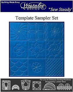 Sew Steady Quilting Template 6 Piece Template Set (Low & Medium Shank)