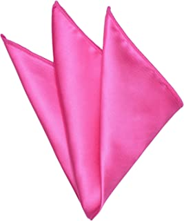 Mens Pocket Square Used for Match Ties, Pure & Paisley Handkerchiefs Crimping Classic Hanky