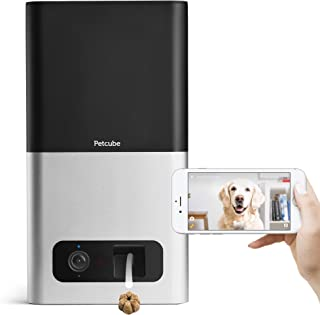 Petcube Bites Pet Camera with Treat Dispenser. Monitor Your Pet Remotely with HD 1080p Video, Two-Way Audio, Night Vision, Sound and Motion Alerts. For Dogs and Cats. Works with Alexa. (Certified Refurbished)