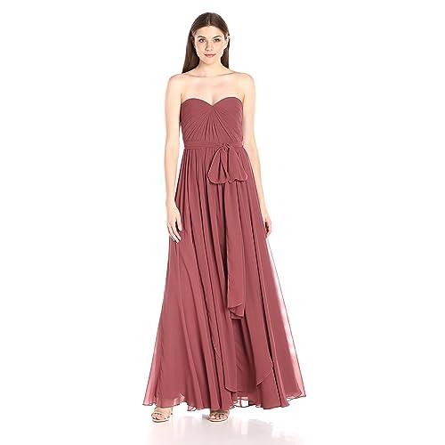 861a37868778 Jenny Yoo Women's Mira Convertible Strapless Pleat Chiffon Gown
