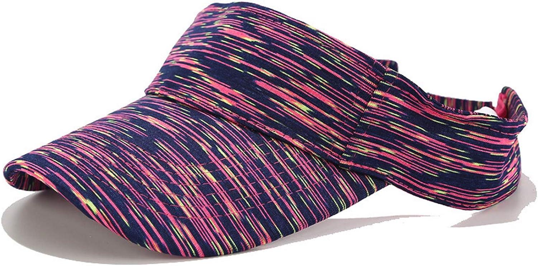 Sivilady Unisex Summer Tie Dye UV Visor Sun Hat Outdoor Travel Tennis Beach Hat Protection Snapback Cap