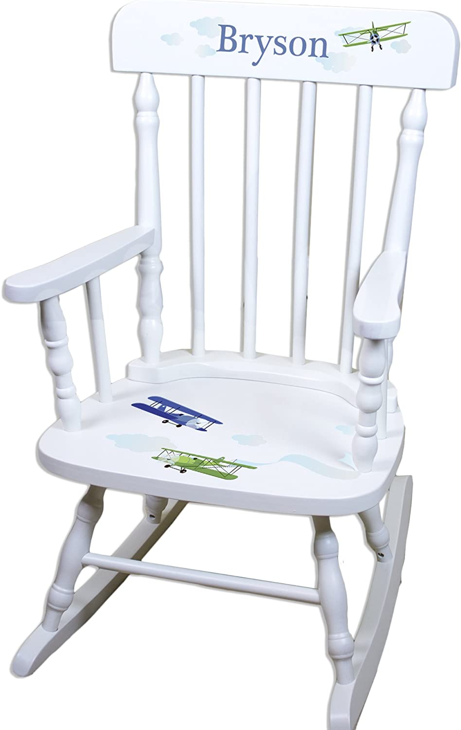 Children's Personalized White Chair Airplane 35% sold out OFF Rocking