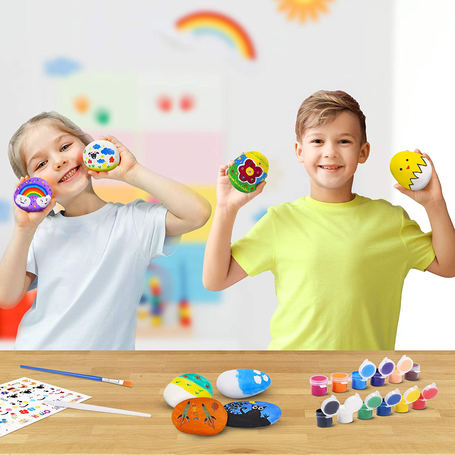Dreamingbox Arts and Crafts for Kids Plastic Rock Painting Kit Toys Arts Gifts