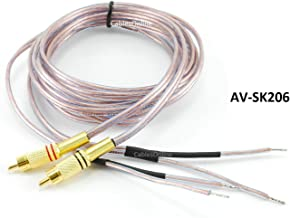 CablesOnline 6ft 18-AWG Speaker Wire Pair Cables with Dual RCA Male Plugs, (AV-SK206)