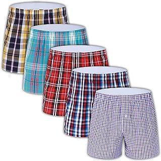 Men's Colorful Woven Boxer Underwear 100% Cotton Premium Quality Shorts