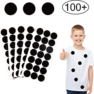 Iceyyyy 100+ Pieces Black Adhesive Felt Circles, Black Self-Adhesive Felt Sticker for Halloween DIY Projects, Professional Craft Finishing (1 Inch)