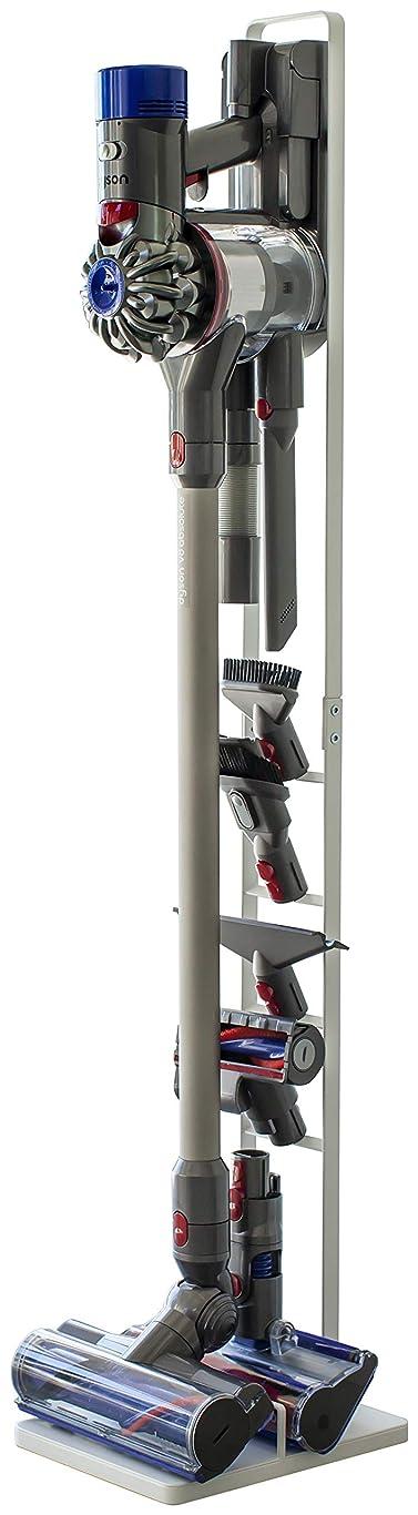 中に教育するみなさん山崎実業 コードレスクリーナースタンド タワー V8 V7 V6 シリーズ対応 ホワイト 約22X29X127cm tower 3540
