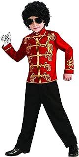 Michael Jackson Halloween Costume Red Military Child (Medium 8/10 [for 5-7 years])