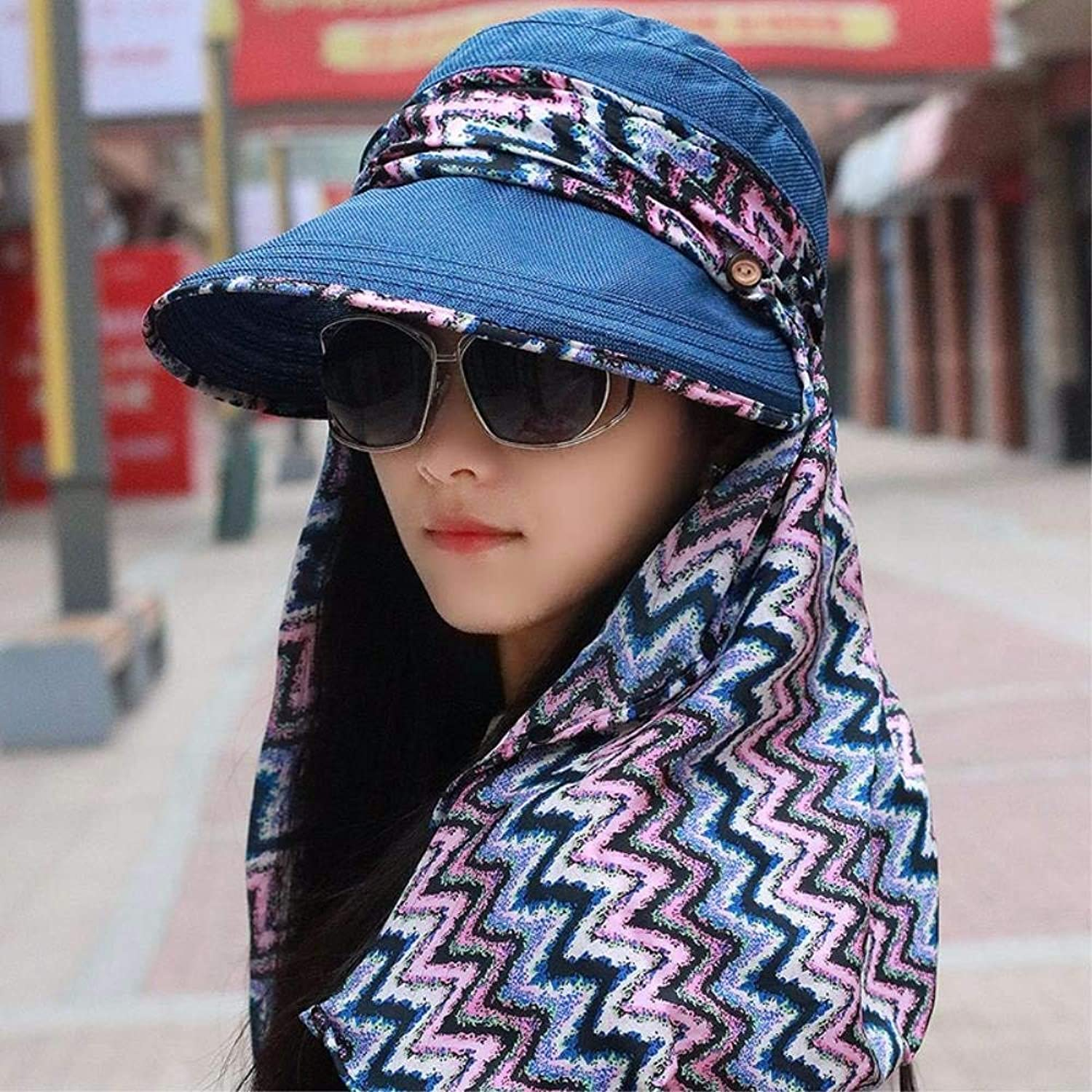 Dingkun Hat female summer excursions outside the present visor cycling sunlight hats fold cool Cap