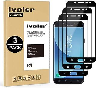 ivoler [3 Unidades] Protector de Pantalla Compatible con Samsung Galaxy J5 2017, [Cobertura Completa] Cristal Vidrio Templado Premium, [Dureza 9H] [Anti-Arañazos] [Sin Burbujas]