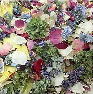 Assorted Flower Petal Blend. 15 cups of Rose Petals, Peony Petals, Hydrangea Petals. Wedding Petals from Flyboy Naturals