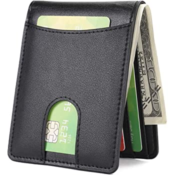 Mens Slim Front Pocket Wallet with Quick Slot