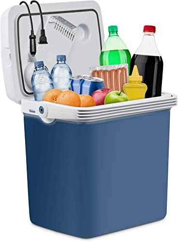 discount Ivation Electric Cooler & Warmer with Handle |27 Quart (25 L) Portable 2021 Thermoelectric Fridge wholesale for Vehicles & Trucks| 110V AC Home Power Cord & 12V Car Adapter for Camping, Travel & Picnics online sale