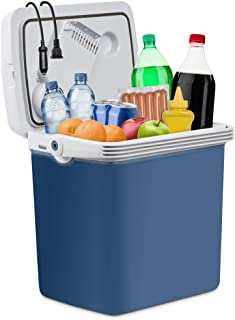 Ivation Electric Cooler & Warmer with Wheels & Handle  27 Quart (25 L) Portable Thermoelectric Fridge for Vehicles & Truck...