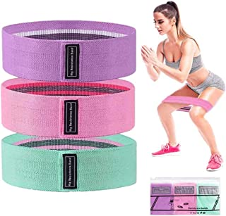 Yarratech Booty Resistance Hip Exercise Bands, Perfect for Exercises Buttocks or Squats, Thicken Anti-Slip & Roll Workout ...