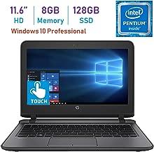 HP Business ProBook 11.6-inch HD WLED Touchscreen Laptop PC (Intel Pentium 4405U 2.10GHz Processor, 8GB DDR4, 128GB SSD, HDMI, Webcam, WiFi, Bluetooth 4.2, Up to 13 hrs Battery, Windows 10 Pro)