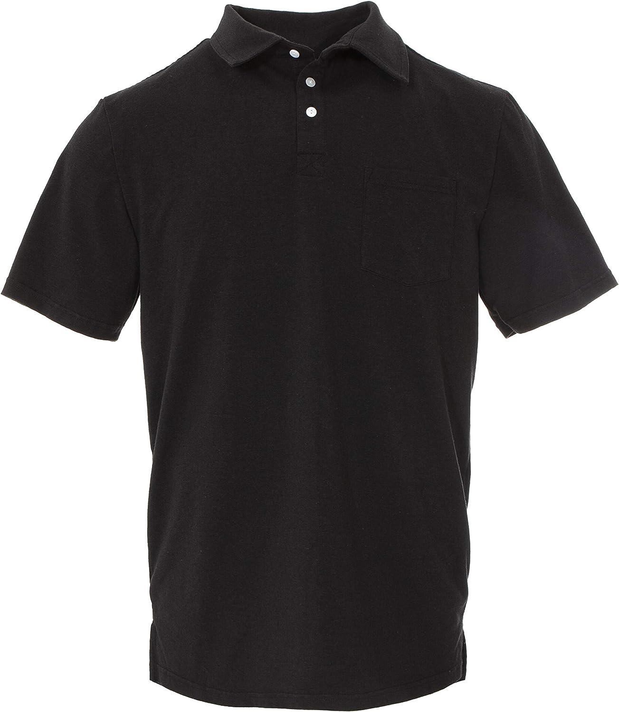 KicKee Menswear Solid Short Sleeve Performance Jersey Polo (2XL, Zebra)