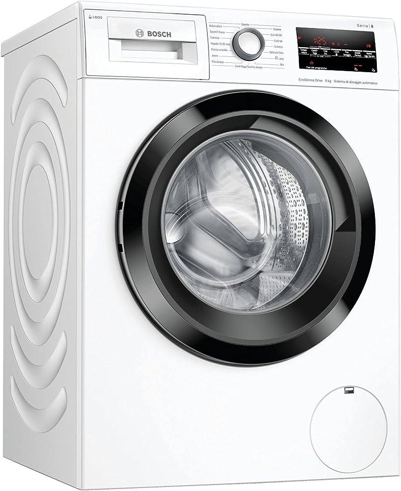 Bosch elettrodomestici, lavatrice a carica frontale, 9 kg, 1400 rpm WAU28S29IT