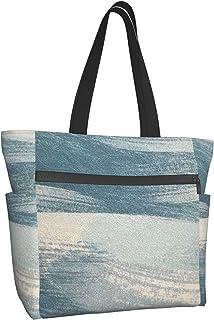 NMTUHAO Gelb-Grau Damen Handtaschen, Große Kapazität Schultertaschen Damen, Multi-Pocket Schultertaschen Messenger Bags