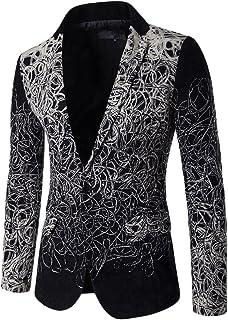 ZongSen Men's Business Blazer Fit Trim Formal Dinner Coat Disk Flowers Jacket