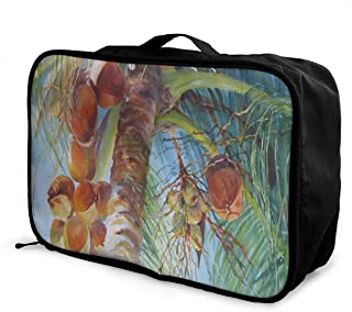 Lightweight Large Capacity Portable Luggage Bag Coco Sun Travel Waterproof Foldable Storage Carry Tote Bag