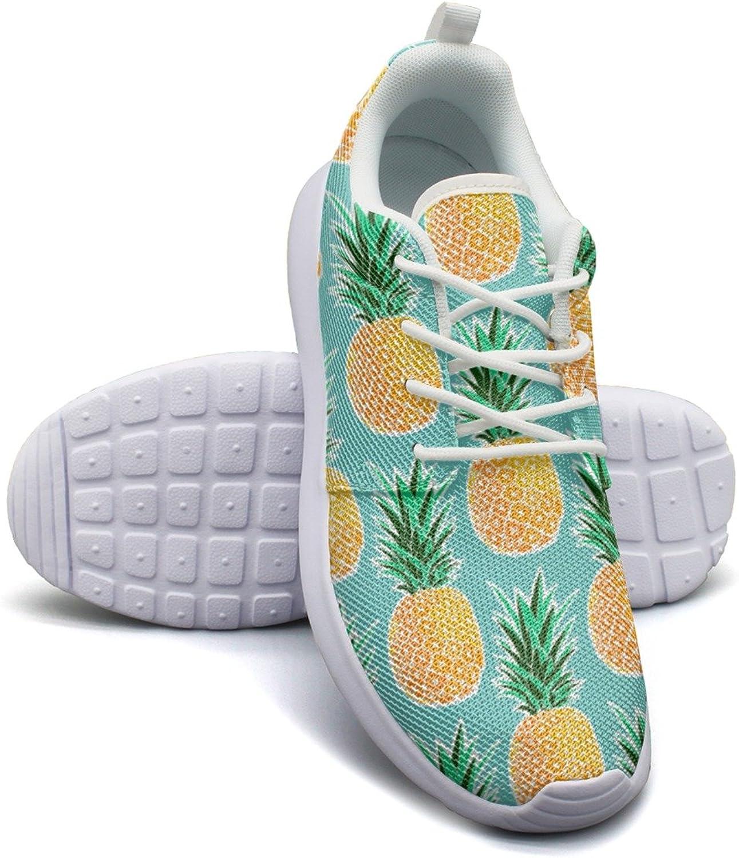 ERSER Tropical Pineapple Green Geometric Neutral Running shoes Women