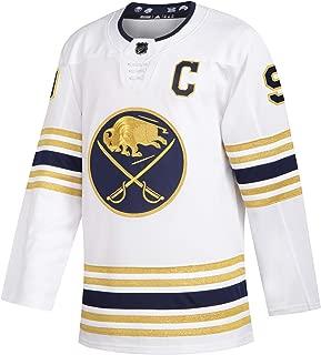 adidas Mens Buffalo Sabres Jack Eichel 50th Season Authentic Alternate Jersey, White