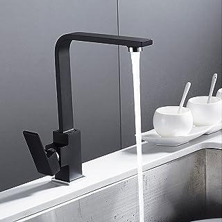 Noir Vintage avec Douchette Extractible 360 /°Rotatif monotrou mitigeur salle de bain bassi Tout en Cuivre pour Evier de Cuisine Salle de Bains,BlackFaucet