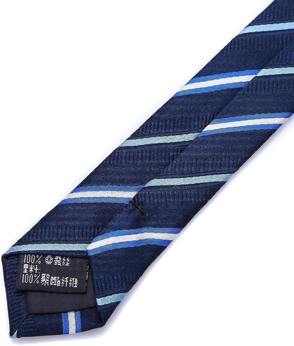 Prettystern Cravate de Soie Homme tiss/é classique /él/égant Homme