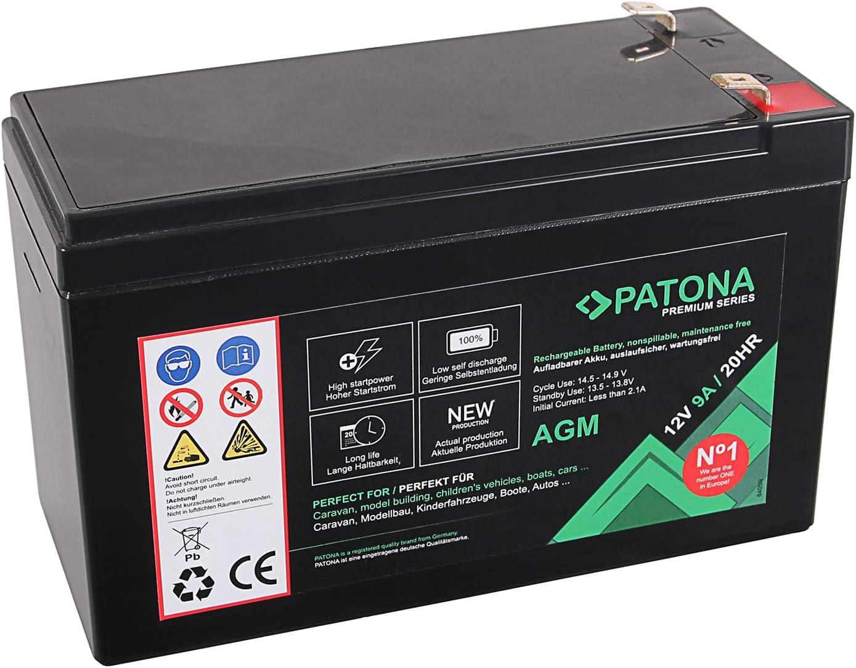 Patona Premium Agm 12v 9ah Blei Batterie Vrla Kamera