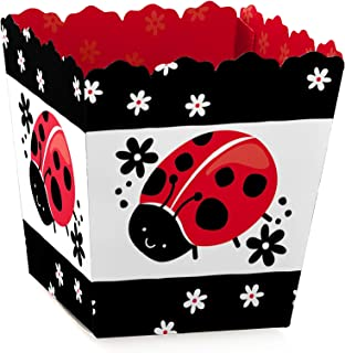 Happy Little Ladybug - Party Mini Favor Boxes - Baby Shower or Birthday Party Treat Candy Boxes - Set of 12